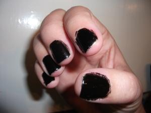 Nail Fail- Finger Paints Black Expressionism