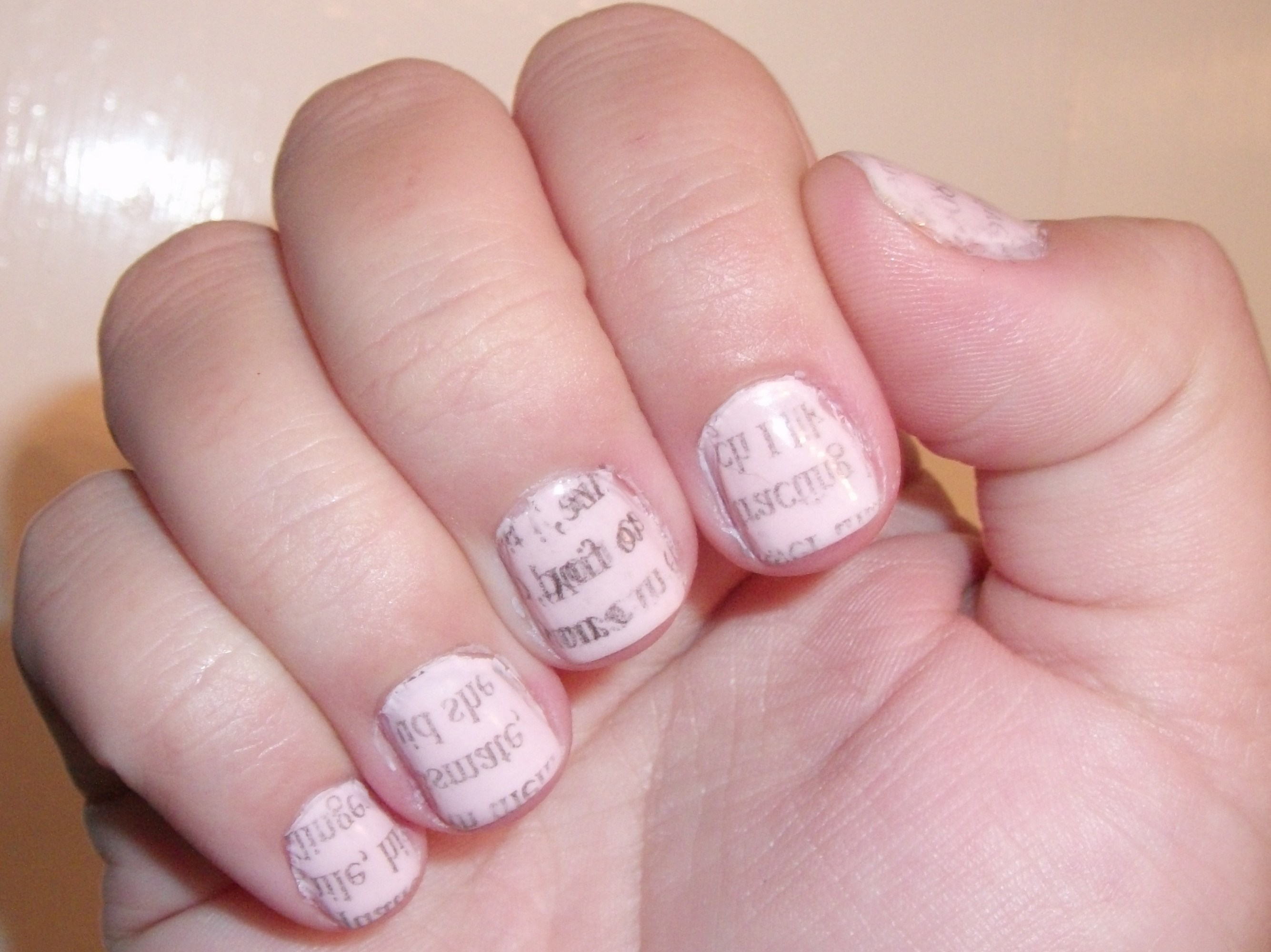 Extra Read All About It Newsprint Nails