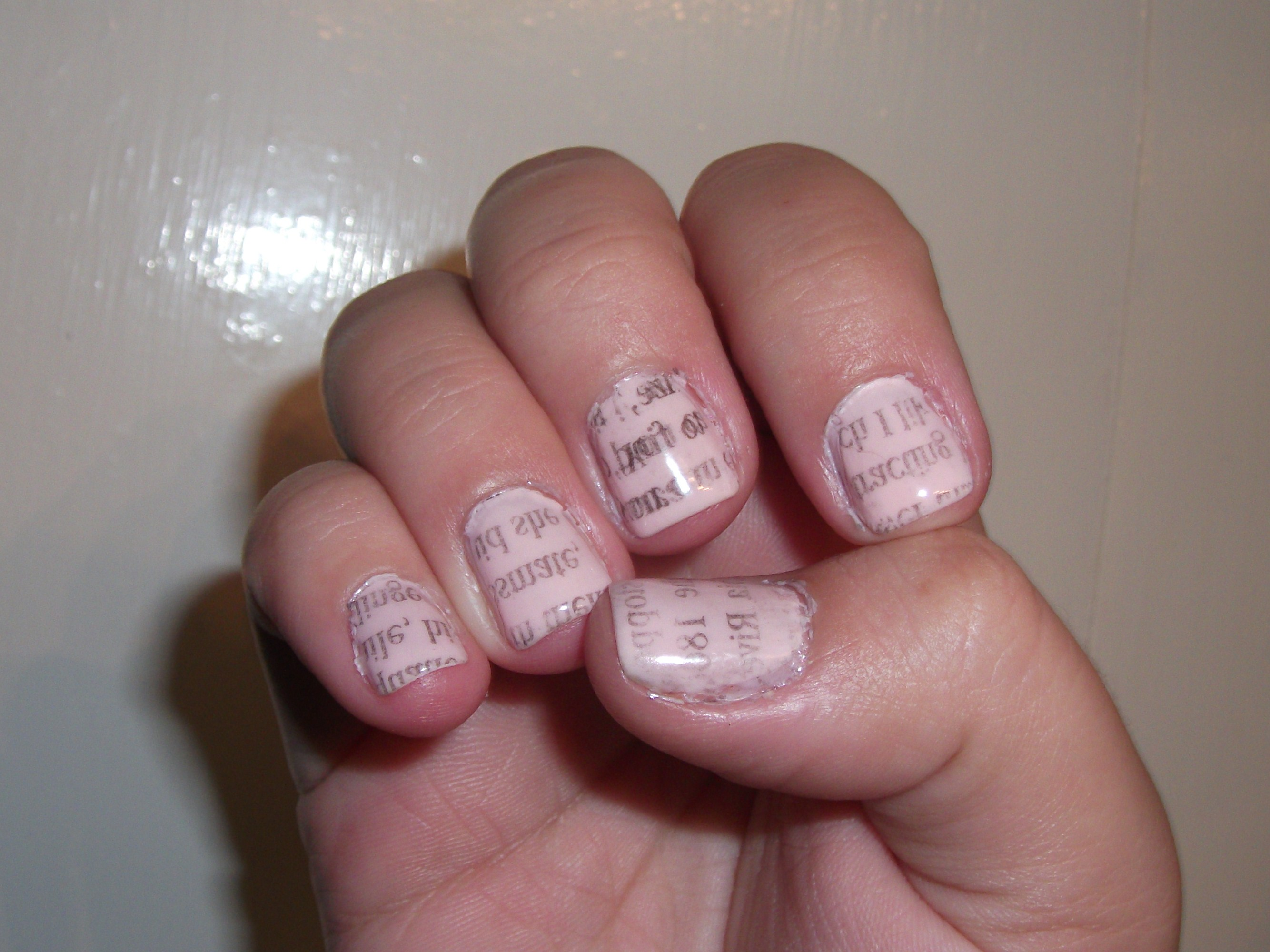 Extra! Extra! Read all about it! Newsprint nails! | Polish Me, Please!