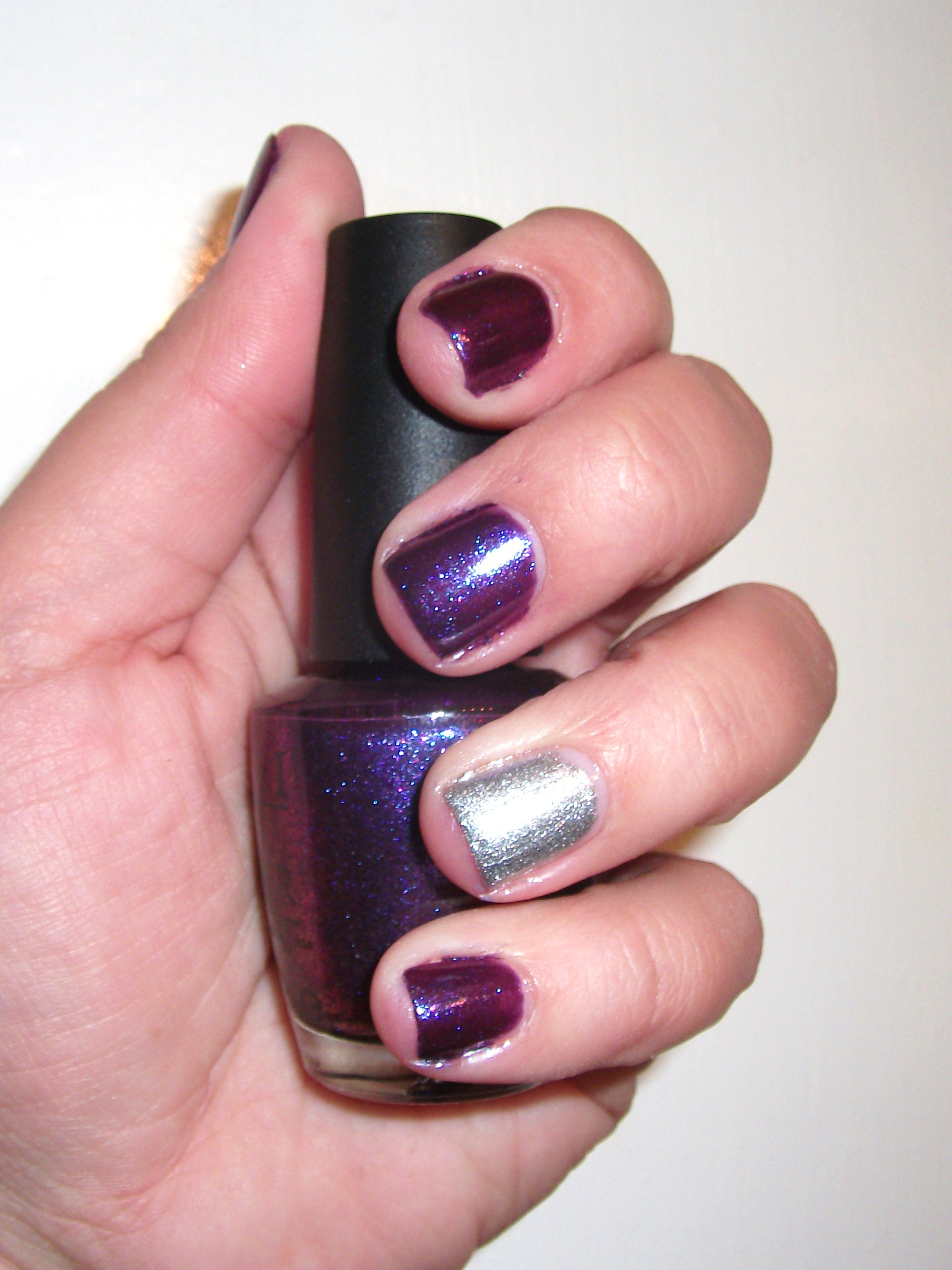 OPI Grape, Set, Match with a Servin\' Up Sparkle Accent Nail | Polish ...