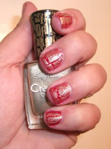 Red Holiday Nails and Red With Glitter Accent Nail
