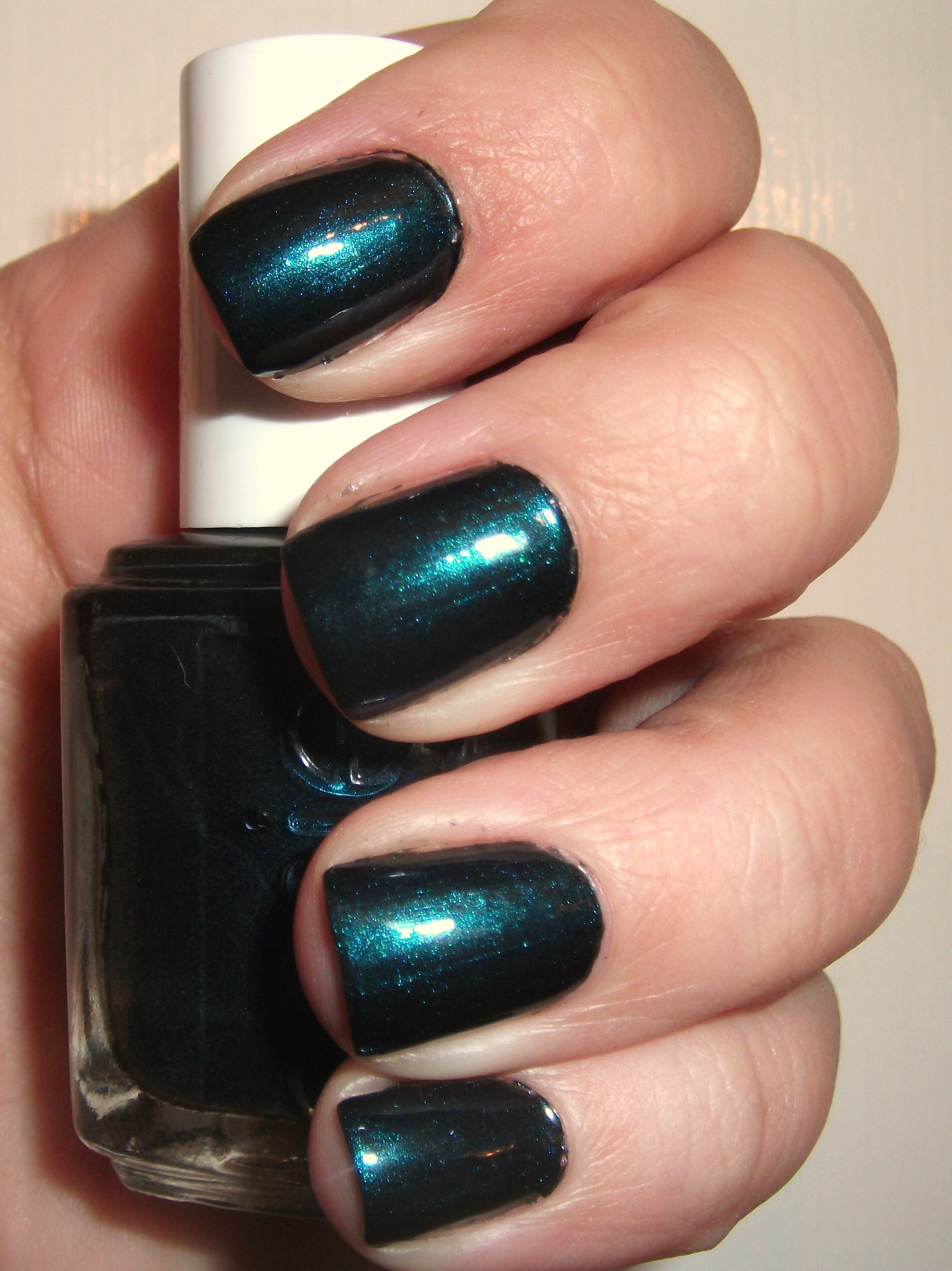 Essie Dive Bar- A Dark Dark Teal Polish (Review) | Polish Me, Please!
