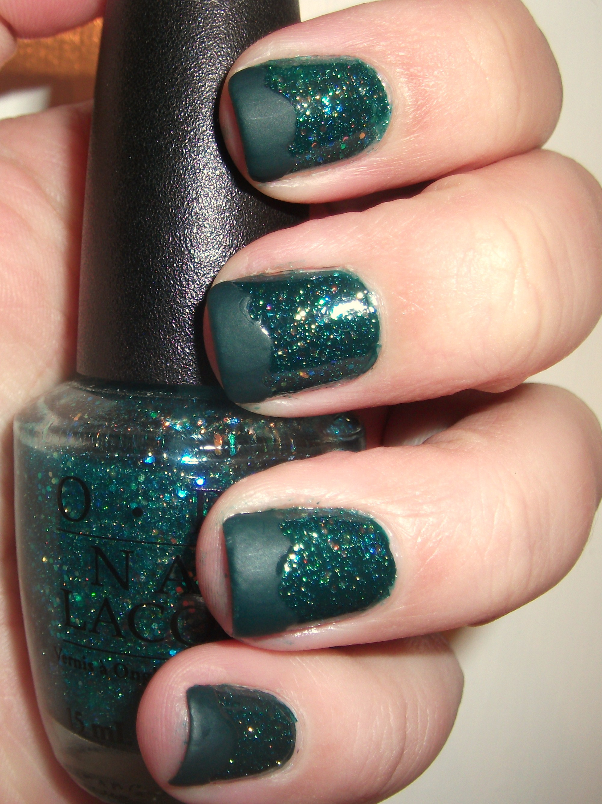 Possibly My Favorite Layering EVERRR!!! Deep Green Sparkly Nails ...