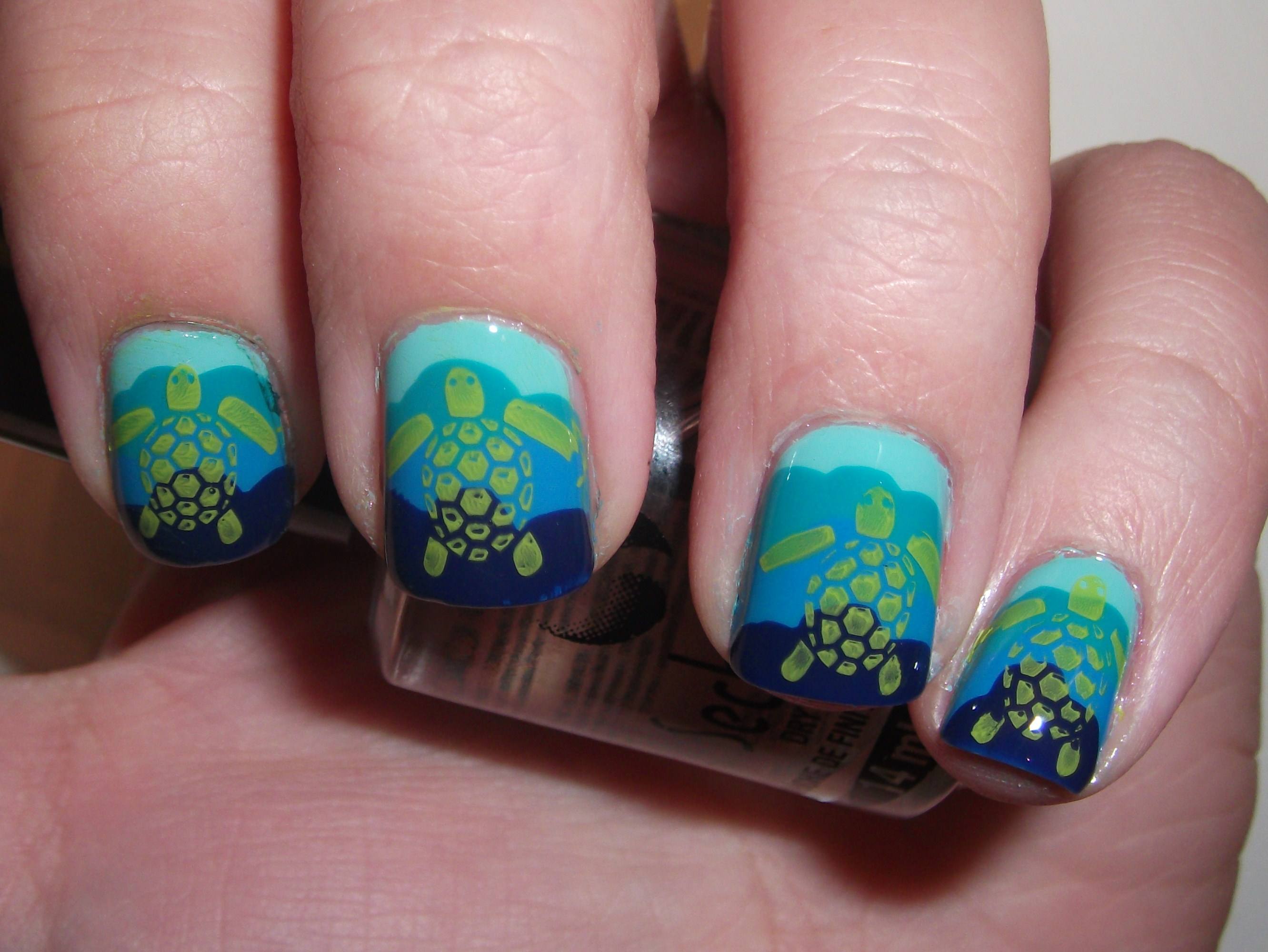 Sea turtle nails polish me please how to get these nails prinsesfo Gallery