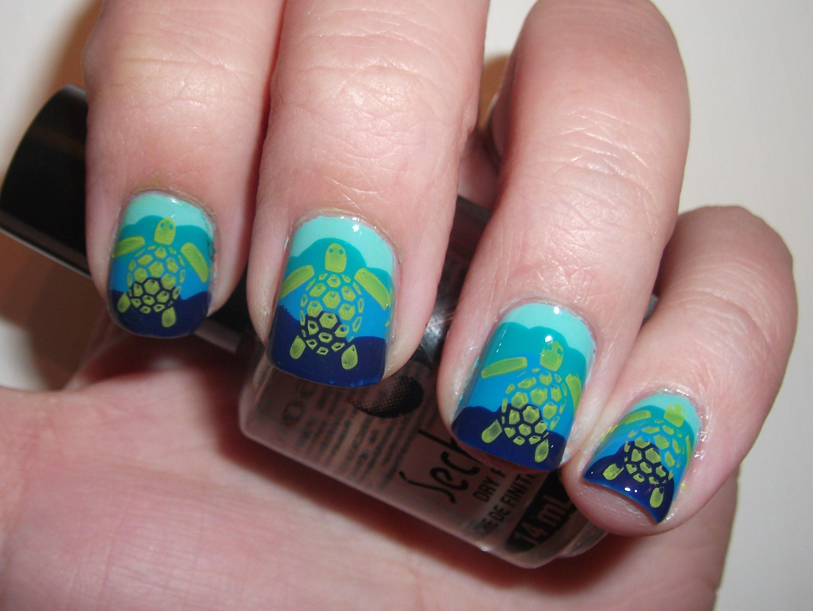 Sea Turtle Nails   Polish Me, Please!