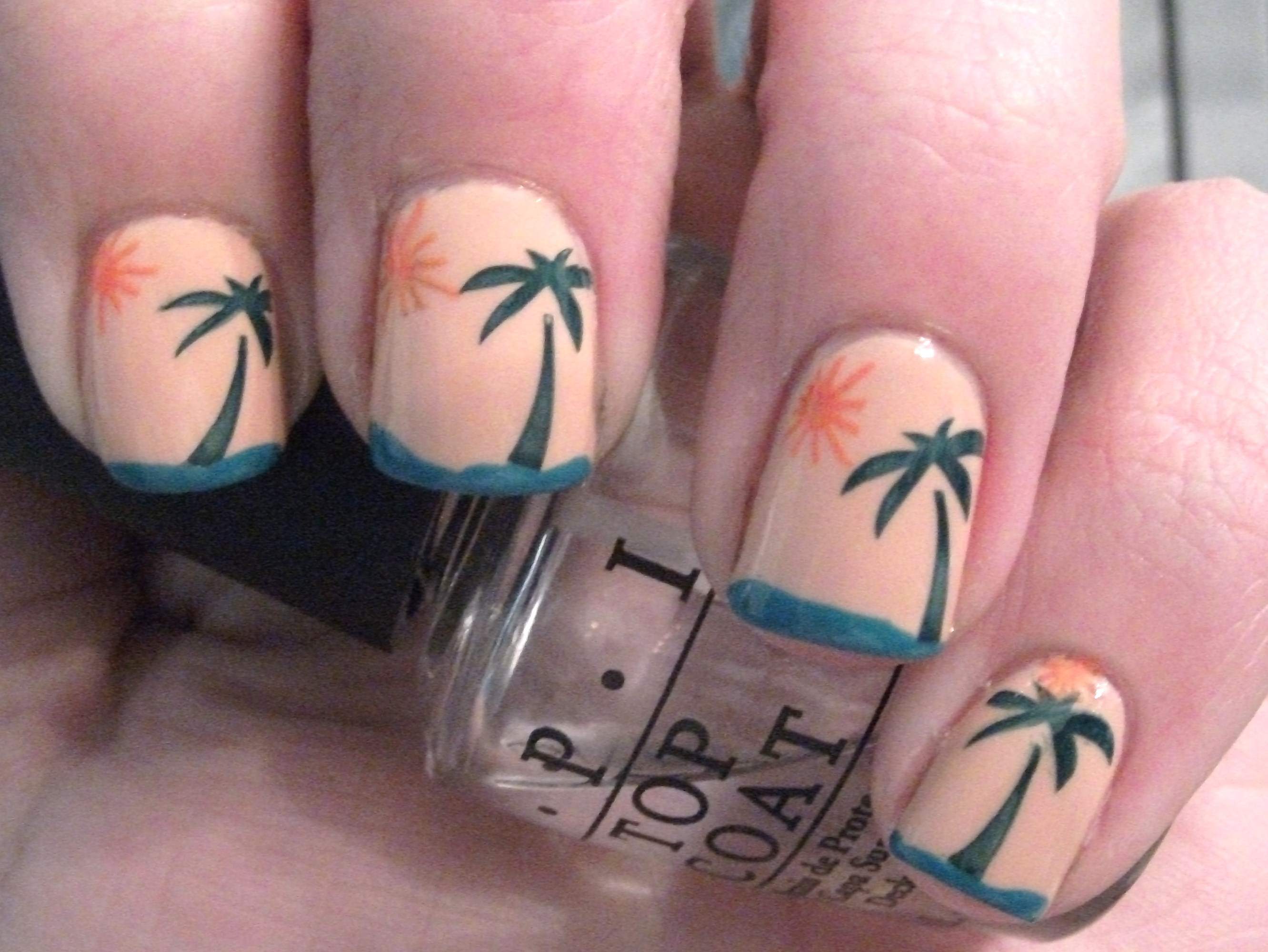 Tropical Sunset Nail Art Polish Me Please
