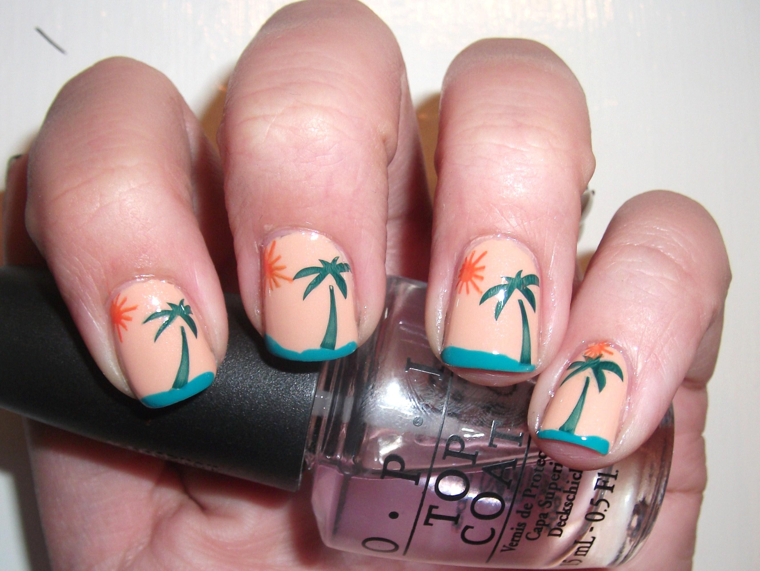 Tropical Sunset Nail Art | Polish Me, Please!