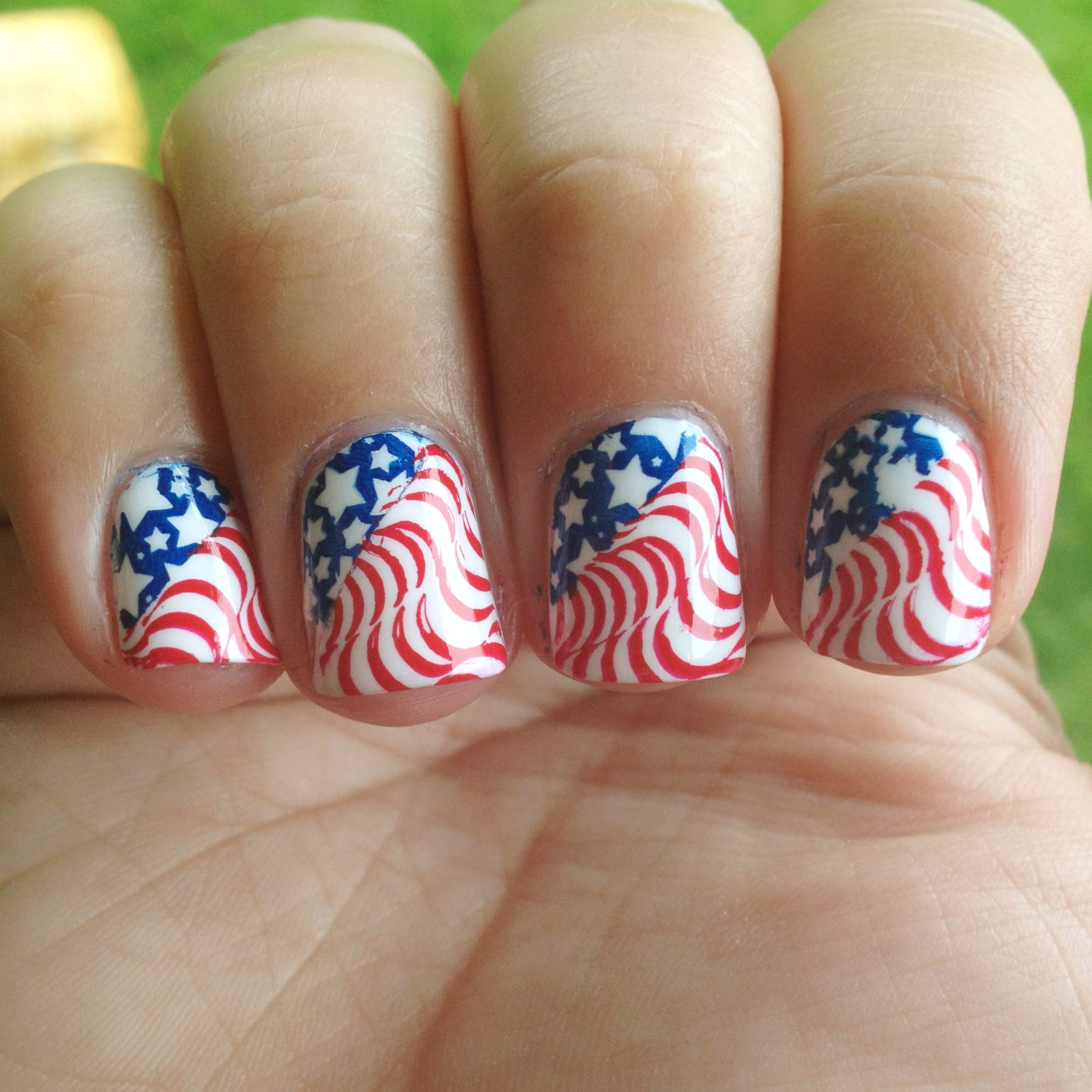 Fourth July Nail Art Design - How to get these nails