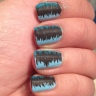 This is a crappy indoor photo but I wanted to show you because I thought they looked pretty cool with the matte black striper stripes before I added my topcoat.