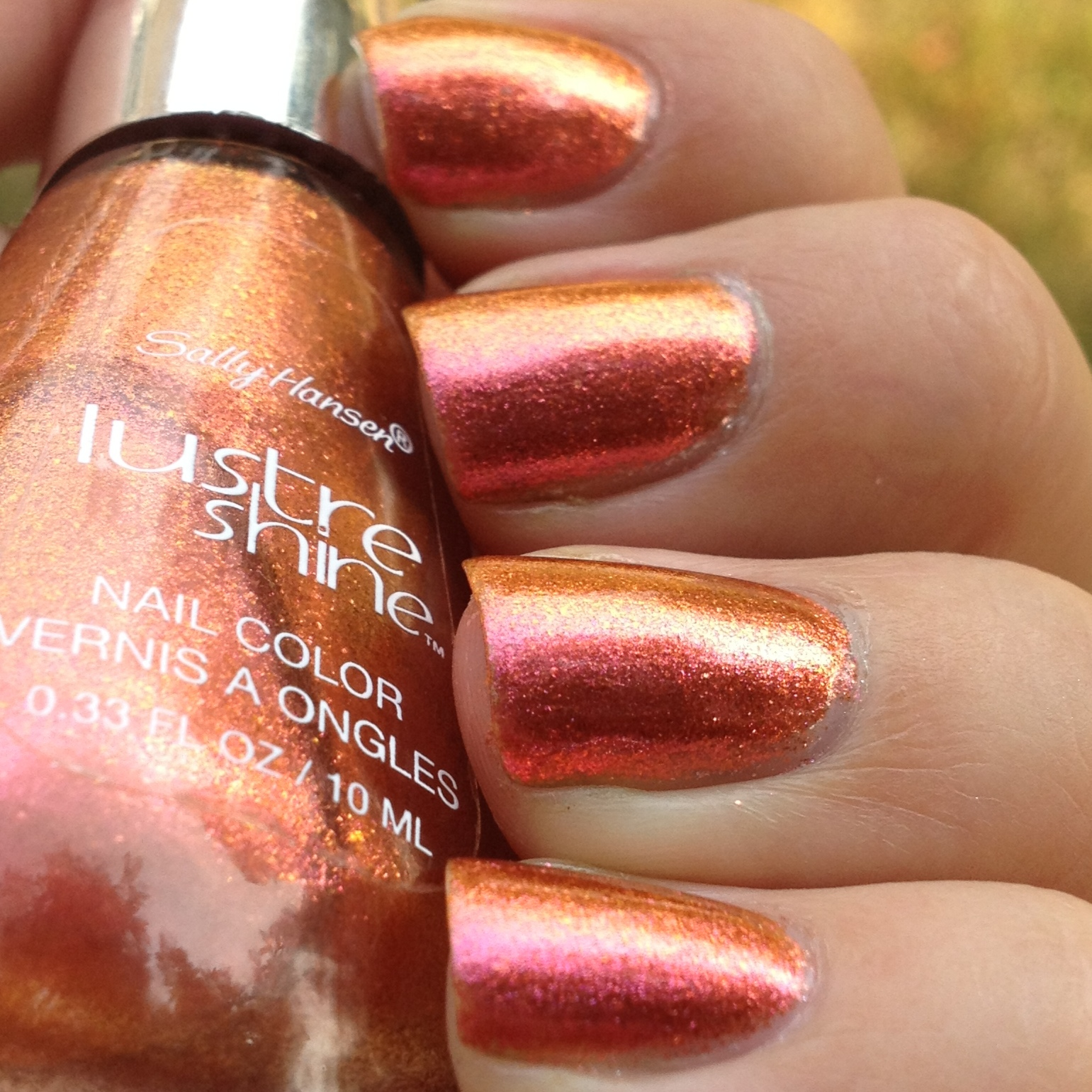 Sally Hansen Lustre Shine Lava Swatches and Review | Polish Me, Please!