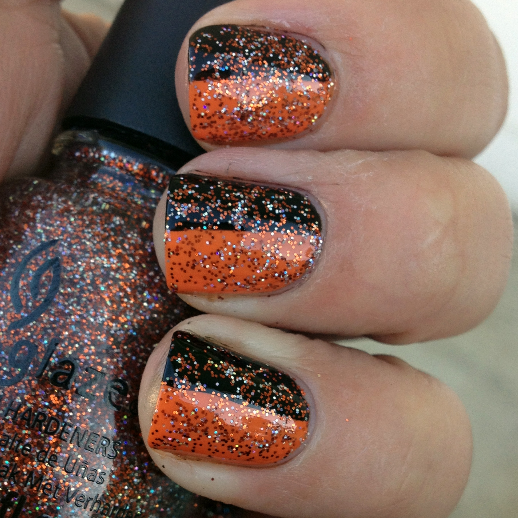 Halloween Glitter Layering | Polish Me, Please!