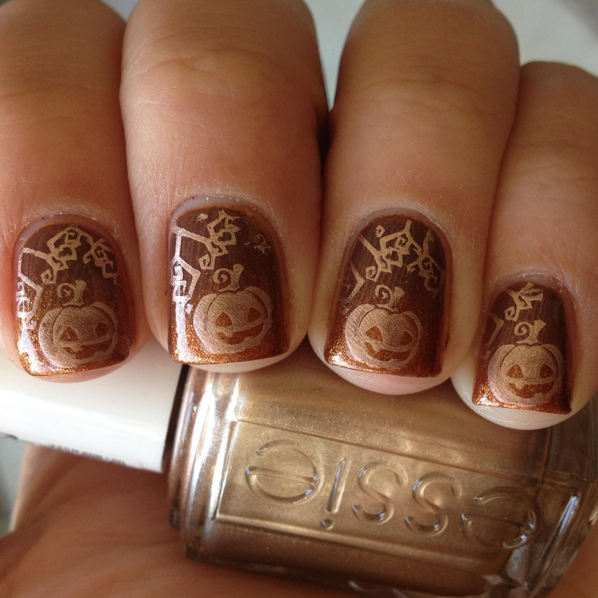 Pretty Fall Pumpkin Nails :) | Polish Me, Please!