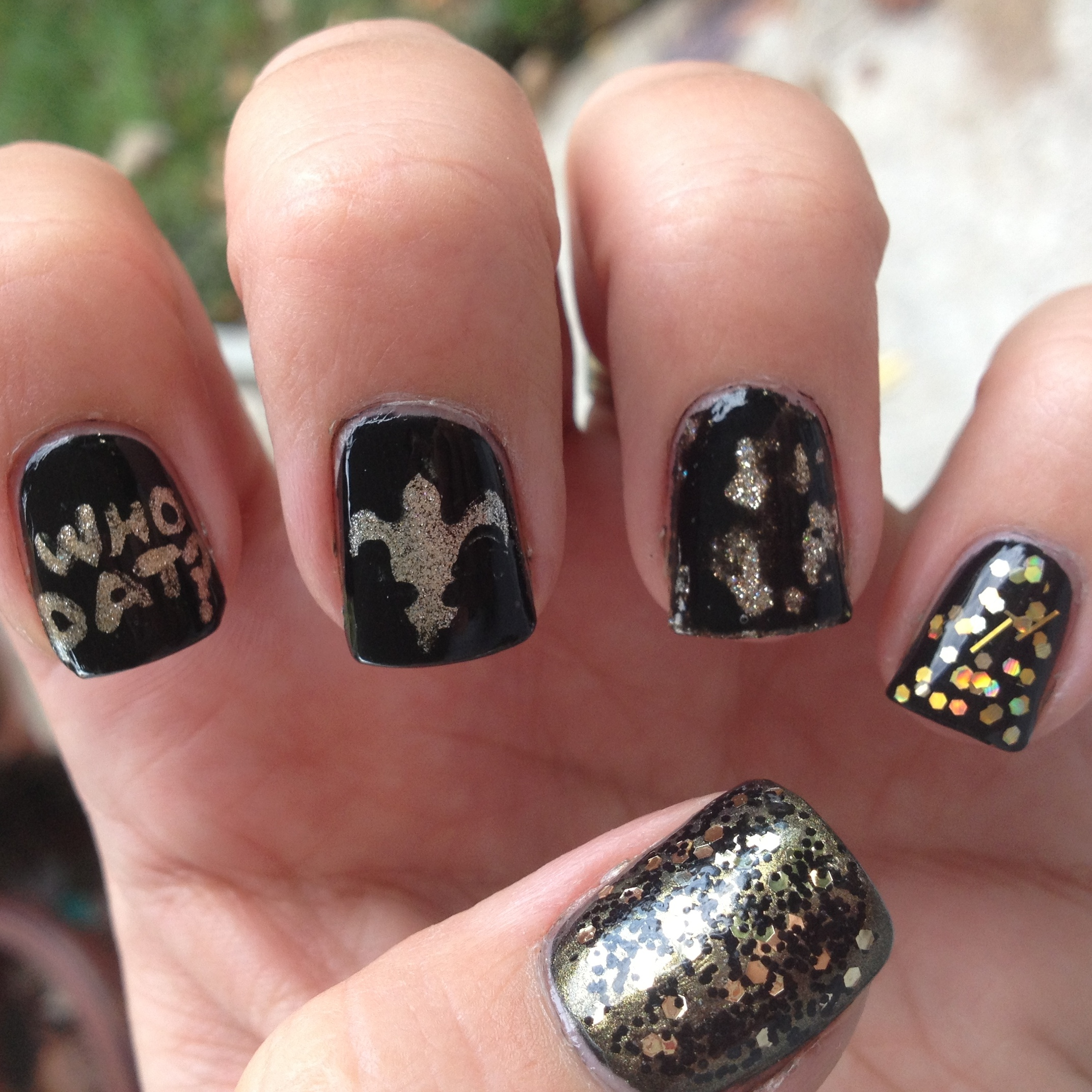 New Orleans Saints Nails | Polish Me, Please!