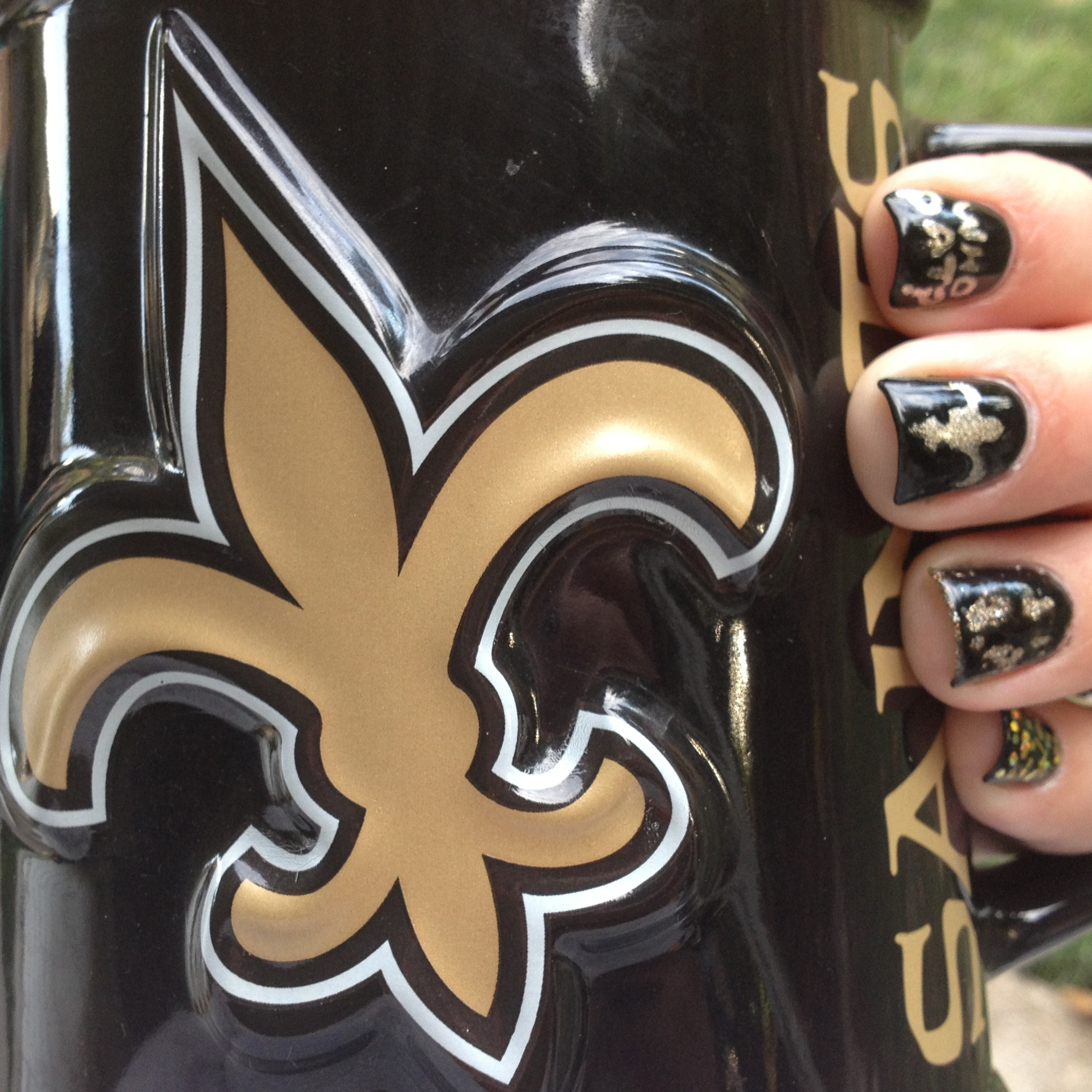 New Orleans Saints Nails