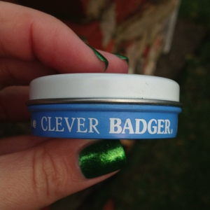 Part of the fun of the Badger Balm products are their cute illustrations on each product (they're all unique to each product) and the little details like the lettering around the edge of this tin.