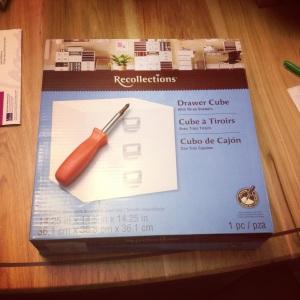 Michael's Drawer Cube for nail polish storage