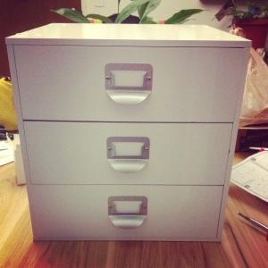 It took me about an hour and a half to assemble the first drawer cube, this was without the ratcheting screwdriver.