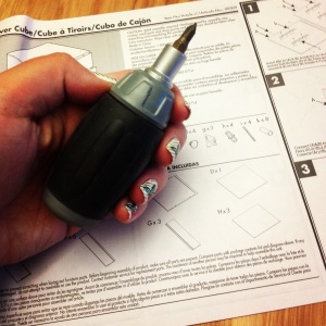 I soon discovered that a ratcheting screw driver cuts down on assembly time significantly.