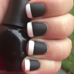 Matte Black Shiny White