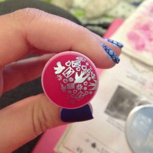 If your design is smeared like this, clean your supplies and start over. You need a clean image on the stamper to transfer to your nails.