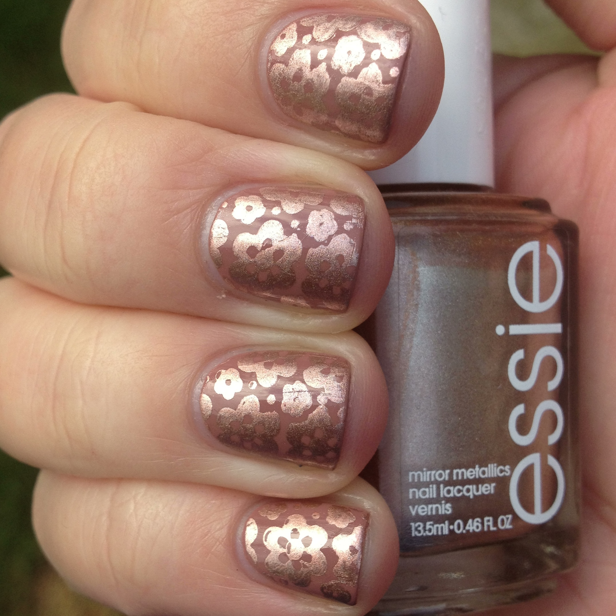 Copper and Mauve Stamped Nails | Polish Me, Please!
