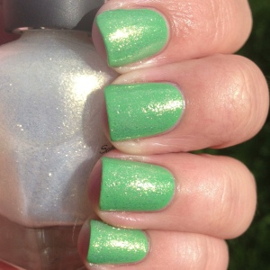 Layer it over Essie Mojito Madness for a really pretty effect.