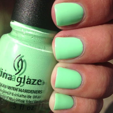 China Glaze Highlight of My Summer Swatch and Review