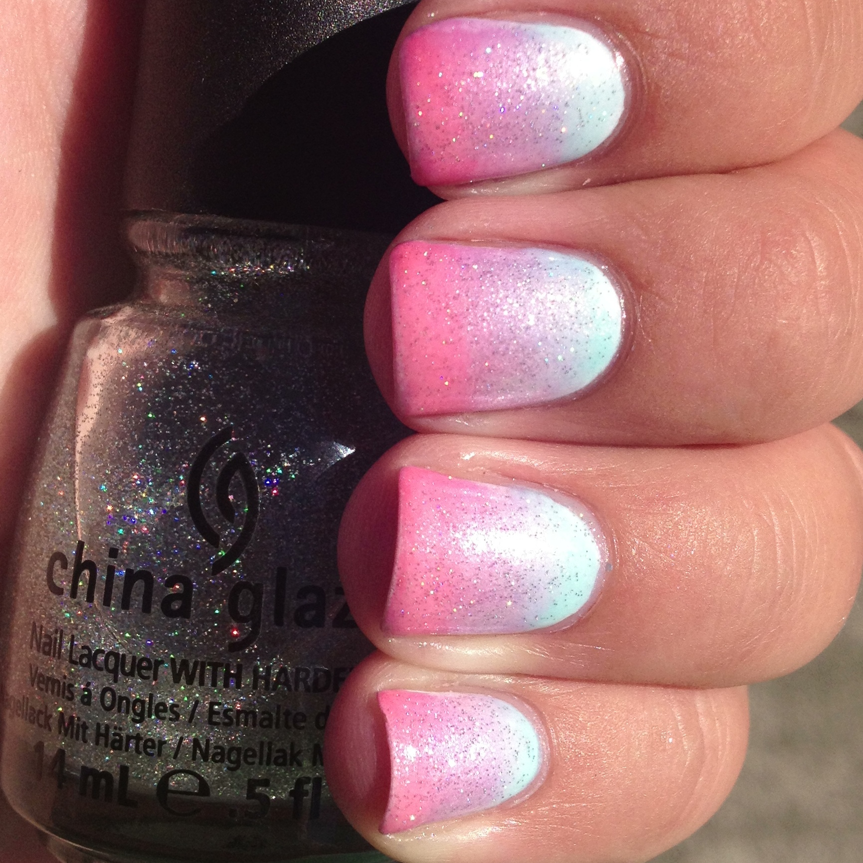 Baby Girl Pink Nail Polish To Bend Light