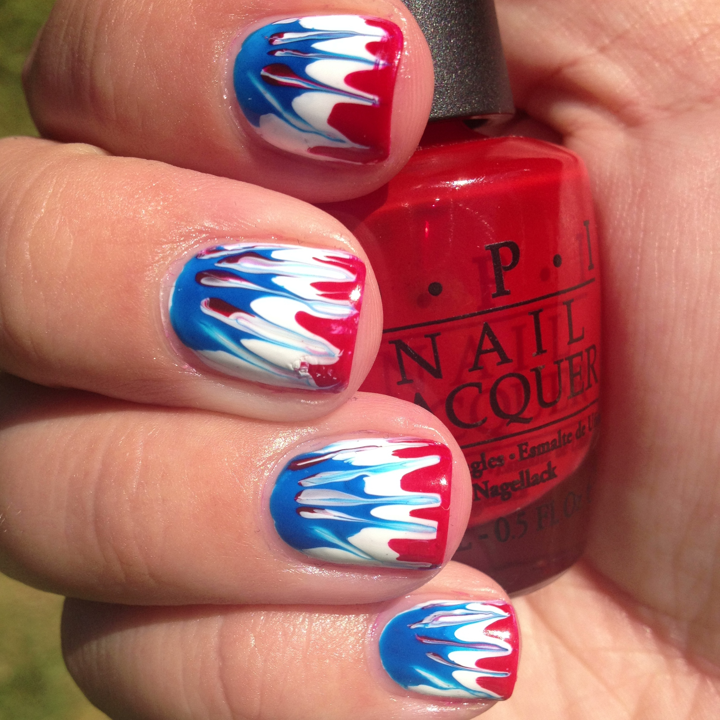 American Tie Dye (Fourth Of July Nails) | Polish Me, Please!