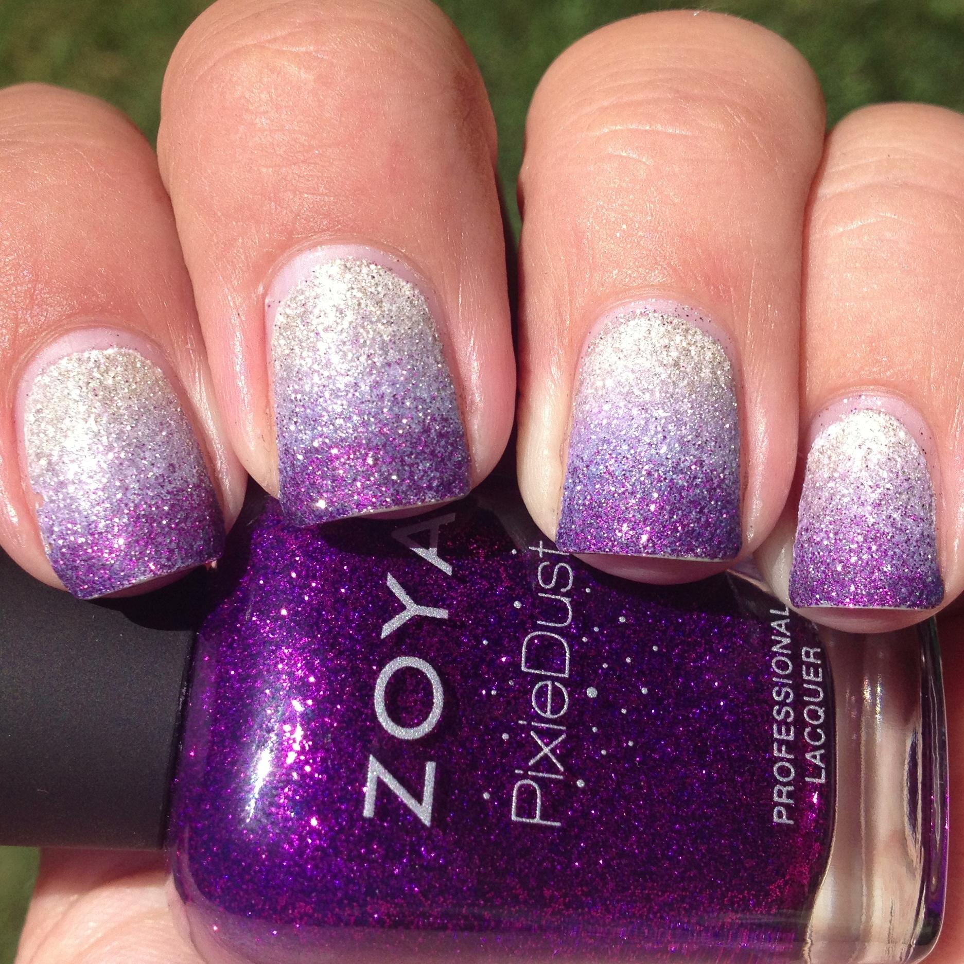 Purple Pixie Dust Gradient Nails | Polish Me, Please!